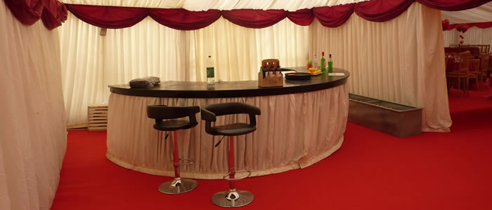 Marquee bar rental in Gloucestershire