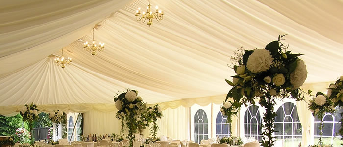 Marquee lighting hire Gloucestershire